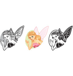 Fairy Portrait vector image
