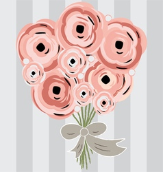flowers bouquet vector image