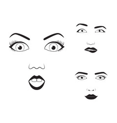 girl emotion face cartoon and vector image vector image