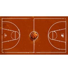 Grunge basketball playground vector image vector image