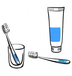 tooth brushing vector image vector image
