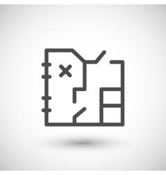 Architecture blueprint line icon vector image