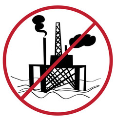 Ban oil plant vector