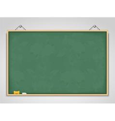 Big Horizontal Green Blackboard vector image vector image