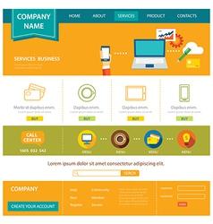 business website template flat design vector image vector image