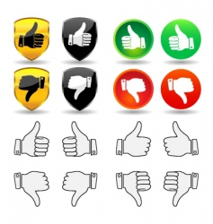 hand gesture set 1 thumbs vector image