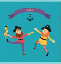 joshua pirates vector image