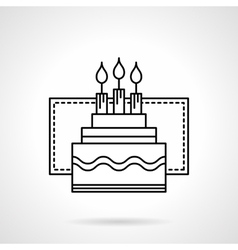 Party pie flat line icon vector image vector image