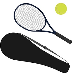 Tennis ball tennis racket racket cover vector image vector image