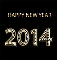 2014 Happy New Year vector image