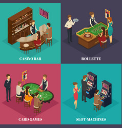 casino isometric composition vector image vector image
