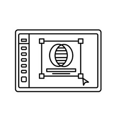 Logo creation in program lined icon graphic vector
