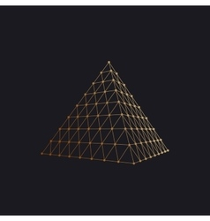 Polygonal pyramid vector