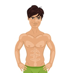 sexy guy isolated - vector image