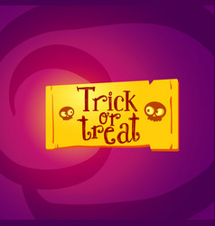 trick or treat tag vector image