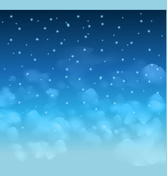 A magical Nigh Blue sky with stars and delecate vector image vector image