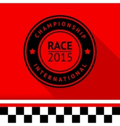 Racing stamp-05 vector image vector image