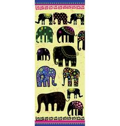 Set of decorative elephants vector image vector image