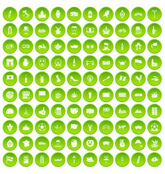 100 europe countries icons set green circle vector