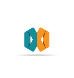 Abstract geometric letter x logo template vector