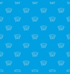 accordion pattern seamless blue vector image