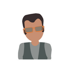 adult male avatar elder faceless vector image