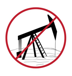 Ban oil rig vector