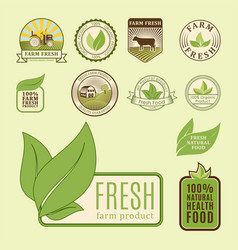 bio farm organic eco healthy food templates and vector image