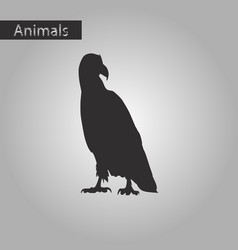 black and white style icon of eagle vector image