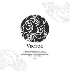 Black decorative flourish leaves vector