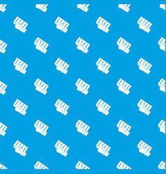 brick in a hand pattern seamless blue vector image
