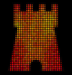 Bright dot bulwark tower icon vector