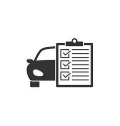 Car service list icon vector