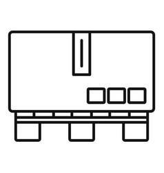 Carton box pallet icon outline style vector