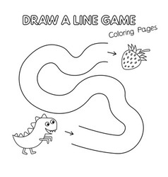 cartoon dinosaur coloring book game for kids vector image