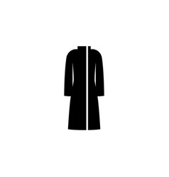 coat icon on white background clothing or clothes vector image