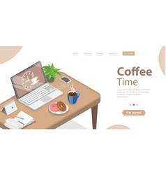 coffee break working at home taking a pause vector image