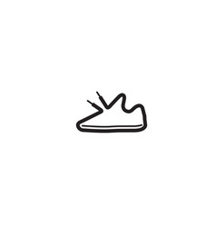 Creative black shoe sneakers lines logo vector