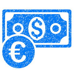currency cash grunge icon vector image