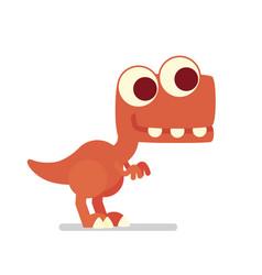 Cute t-rex dinosaur life of vector