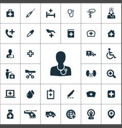 doctor icons universal set for web and ui vector image