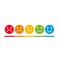 emoji colored flat icons scale set vector image