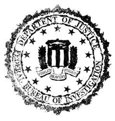 Fbi rubber stamp vector
