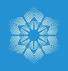 figurate snowflake icon simple style vector image