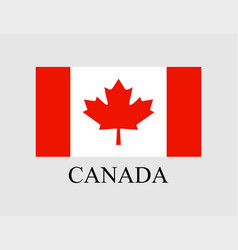 flag canada on light background in flat style vector image