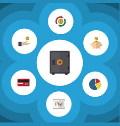 flat icon incoming set of graph interchange vector image