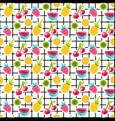 fruits patches seamless pattern vector image