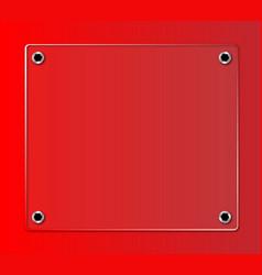 Glass nameplate vector