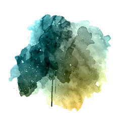 Grunge watercolor background vector