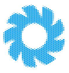Halftone dot turbine icon vector